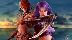 Guild wars digital blasphemy wallpapers artwork girls fantasy factions cartoon Cartoon HD Wallpaper 1920x1080 px