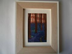 Bluebell Wood Textile Art