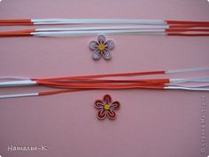Pretty quilled flower. Site in Russian