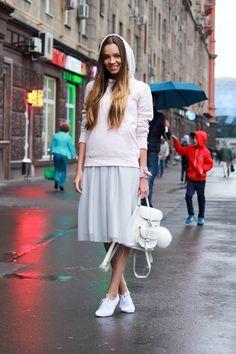 Tulle skirt www.grafea.com #Leather #backpack
