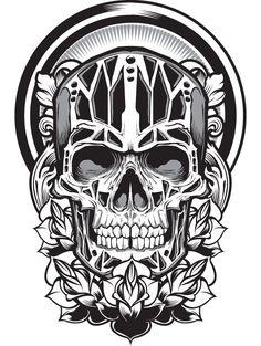 Skull by Joshua M. Smith, via Behance
