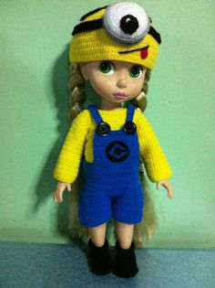 Minion costume for Disney Princess Animator doll MADE TO ORDER