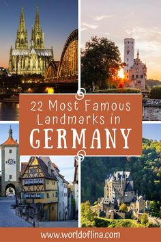 22 of the most beautiful and famous landmarks in Germany. Natural and historical German landmarks everyone needs to visit! #germany #europe #berlin #nuremberg #munich #hamburg #germanytravel #germanytourism #stuttgart | Places to See in Germany | Travel to Germany | Germany Travel Guide | Things to do in Germany Road Trip Europe, Europe Travel Guide, Europe Destinations, Amazing Destinations, Travel Guides, Visit Germany, Germany Europe, Germany Travel, European Vacation