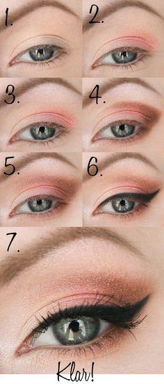 Sommer Make-up - # Sommer Make-up - Natural Makeup Blue Simple Eye Makeup, Dramatic Makeup, Cute Makeup, Simple Makeup Tutorial, Barbie Make-up, Casual Makeup, Edgy Makeup, Beauty Makeup, Make Up Anleitung