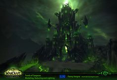 ArtStation - Tomb of Sargeras and Legion buildings - World of Warcraft, Fanny Vergne