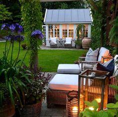 Dream Garden, Home And Garden, Landscape Design, Garden Design, Outdoor Furniture Sets, Outdoor Decor, Garden Inspiration, Exterior Design, Outdoor Living