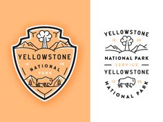 Yellowstone National Park designed by Alex Spenser. Connect with them on Dribbble; the global community for designers and creative professionals. Logo Branding, Branding Design, Logo Design, Collateral Design, Map Design, Us National Parks, Yosemite National Park, National Park Patches, National Park Shirts