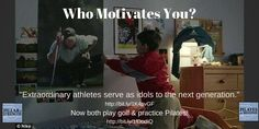 On #motivationmonday encourage your young golfers & bring them to #Pilates with you like #TigerWoods #RoryMcIlroy !