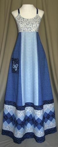Blue Seminole Patchwork Dress