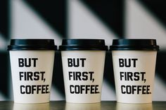 Disposable coffee cups, now printed with hip artwork and quotes. Love.
