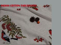 indian cotton tablecloth
