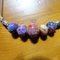 Handmade Artisan Lampwork Monet's Garden Necklace by CanoodlesJewels, $28.00