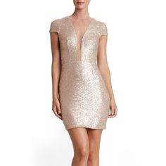 Women's Dress The Population Kylie Sequin Minidress ($216) ❤ liked on Polyvore featuring dresses, pale blush, sequin dresses, short sequin dress, short dresses, mini dress and short sequin cocktail dresses