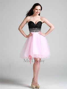 black and pink dress, lovely!