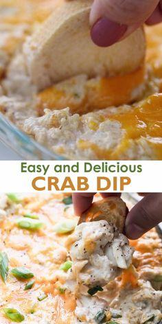 Crab Dip Recipes, Best Dip Recipes, Seafood Recipes, Cooking Recipes, Recipes For Dips, Dip Recipes For Parties, Food For Parties, Lump Crab Meat Recipes, Mexican Dip Recipes