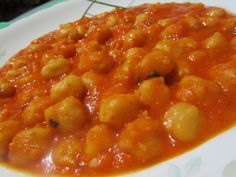 garbanzos a la catalana,con receta