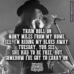 Train roll on many miles from my home,  See, I'm riding my blues away.  Tuesday…