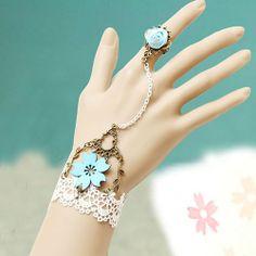 $13.99 USD Tree Branch Flower Pendant Lace Bracelet Chain Slave