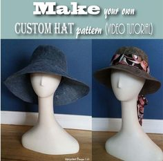 Upcycled Design Lab Blog - DIY Wide Brim Hat Pattern Tutorial - Make your own custom fit hat pattern