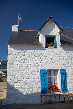 Old fisherman's house on the island of Houat, #Morbihan, #Bretagne, France.