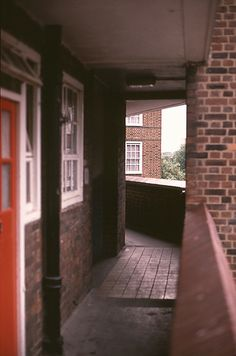 Light was thrown on the proceeding here by proper wooden glazed windows. Old London, East London, London History, London House, Building Facade, Roads, Britain, Porch, Urban