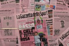 MODENA, ITALY, MAY 2017 - Advertising panel for the Giro d'Italia, sport competition