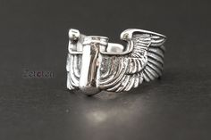 Flying bullets ring,bullets ring, wing ring,Sterling silver ring ,Creative ring.weird ring