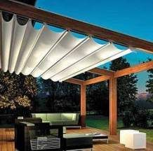 The pergola kits are the easiest and quickest way to build a garden pergola. There are lots of do it yourself pergola kits available to you so that anyone could easily put them together to construct a new structure at their backyard. Diy Pergola, Wooden Pergola, Outdoor Pergola, Pergola Shade, Backyard Patio, Outdoor Spaces, Outdoor Living, Outdoor Decor, Pergola Retractable Shade