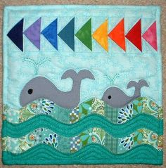 Looking for quilting project inspiration? Check out Whale Mini Quilt by member The Patchsmith.