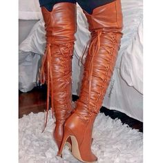 Thigh High Pointy Boots