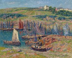 """moret henry sardines catchers at douelan 1909 sotheby (from <a href=""""http://www.oldpainters.org/picture.php?/31229/category/13324""""></a>)"""