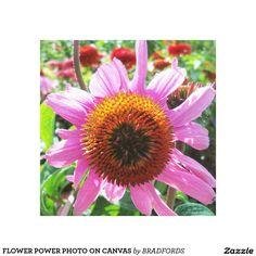 FLOWER POWER PHOTO ON CANVAS