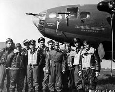 Crew of the Memphis Belle.  She deployed to Prestwick, Scotland, on 30 September 1942, to a temporary base at RAF Kimbolton on 1 October, and then to her permanent base at Bassingbourn, England, on 14 October.[5] Each side of the fuselage bore the unit identification markings of the 324th Bomb Squadron (Heavy) - DF: A.[4] [6]  Captain Robert Morgan's crew flew 29 combat missions with the 324th Bomb Squadron, all but four in the Memphis Belle.