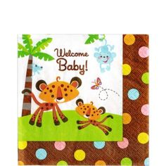 Fisher Price Baby Lunch Napkins 16ct - Party City