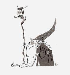 Scott Gwynn tiny old wizard Illustration Vector, Illustrations, Character Illustration, Character Concept, Character Art, Concept Art, Wizard Drawings, Art Drawings, Character Design Animation