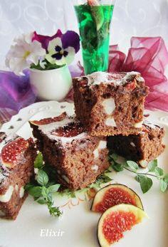 Кулинарен еликсир: шоколадов сладкиш с круши,смокини и мента