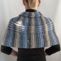 Sale Hand Knit Wrap Shrug CapletBolero Shawl by vinevirak Crochet Prayer Shawls, Knitted Shawls, Crochet Shawl, Knit Crochet, Hand Knitting, Knitting Patterns, Knitted Cape, Knit Wrap, Poncho Sweater