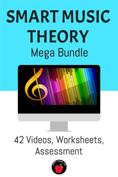 42 movie files - over 70 minutes of video! Includes  note name posters, Teachers Guide, links to online Assessments for Google classroom, reproducible workbook and evaluation pages. UNITS INCLUDE: STAFF - Lines Music Theory For Beginners, Basic Music Theory, Music Theory Games, Music Theory Worksheets, Music Sub Plans, Music Lesson Plans, Music Lessons, Help Teaching, Teaching Music