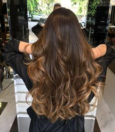 Hair Color Flamboyage Balayage Highlights New Ideas Brown Hair Balayage, Hair Color Balayage, Hair Highlights, Ombre Hair, Bayalage, Balayage Brunette Long, Long Brunette Hair, Brown Blonde, Blonde Hair