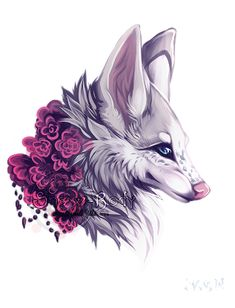 It's an image (a wolf because I really love wolves) that uses nature in it to complete the picture :3
