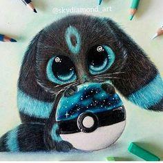 So cute Pokemon eeveelutions Cute Disney Drawings, Cute Animal Drawings, Kawaii Drawings, Adorable Drawings, Drawing Animals, Drawing Disney, Cute Pokemon Wallpaper, Cute Disney Wallpaper, Cute Fantasy Creatures