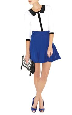 Karen Millen - Colorful fluted skirt