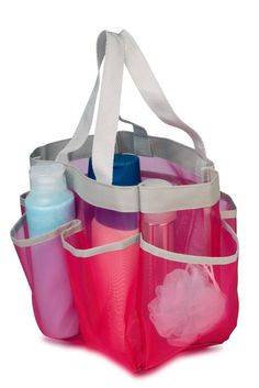Portable Shower Caddy College Gym Dorm Travel Hanging Bag Mesh Tote Bathroom  #HoneyCanDo  #PortableShowerCaddy