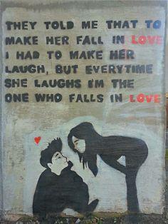 Street Art in Chorley - Not laughing, but loving!