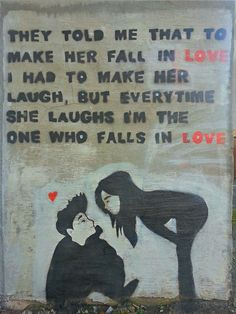 Street Art in Chorley - Not laughing, but loving!