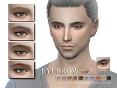 The Sims Resource: Eyebrows 38M by S-Club • Sims 4 Downloads