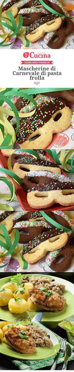 Mascherine di Carnevale di pasta frolla della nostra utente Daniela. Unisciti alla nostra Community ed invia le tue ricette!