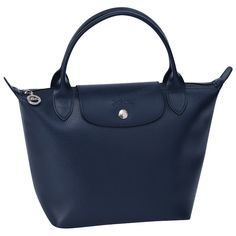 Longchamp, Veau Foulonné Handbag, Night Blue