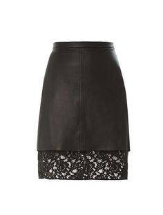 Sea Pizval Lace Hem Leather Skirt, Found on Sale at MATCH...