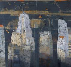 Paul Balmer - NIGHT IN GREY 64x64 oil on canvas